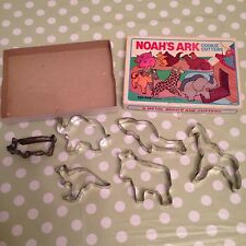 FOX RUN CRAFTSMEN 6 METAL NOAHS ARK COOKIE CUTTERS RARE 1985 COLLECTABLE