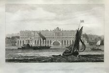 1811 Antique Print; Somerset House, London after Samuel Owen