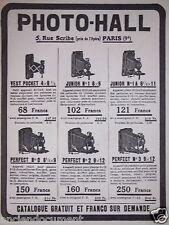 PUBLICITÉ 1919 PHOTO-HALL VEST POCKET JUNIOR PERFECT - ADVERTISING