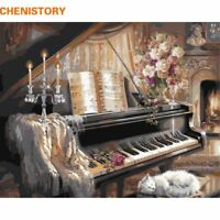 Piano DIY Oil Painting By Number Room Decor Handpainted Canvas Painting Wall Art