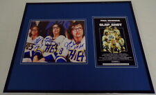Slap Shot Hanson Brothers Signed Framed 16x20 Photo Poster Set Slapshot