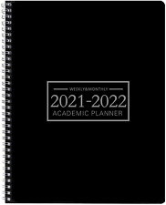 Academic Monthly Planner Jan 2021 Dec 2022 Hardcover Black Day Designer Calendar