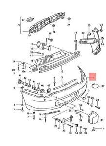 Genuine PORSCHE Boxster 986 Trim 98650541113