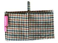 Purseket Mini Purse Organiser Insert with Gusseted Pockets, Drop In, Glen Check