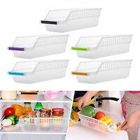 4PC Plastic Kitchen Fridge Drawer Storage Rack Holder Space Saver Organizer Box