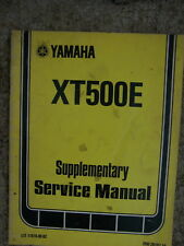 1977 Yamaha XT500E Motorcycle Supplementary Service Manual MORE IN OUR STORE  L
