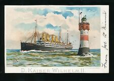 Shipping Germany Norddeutscher Lloyd Bremen Kaiser Wilhelm II c1900s? PPC