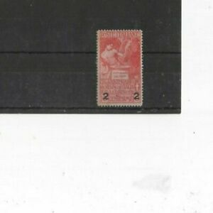 ITALY , 1913, SG94 TYPE 46 2 ON 10c RED, MH