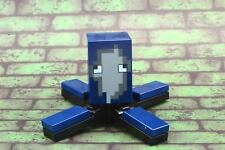 Lego Mini Figure Minecraft Squid from Set 21136 New Assembled Dark Blue