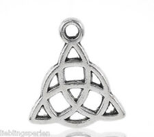 150 Amulette Triquetra Keltisch Dreiheitsknoten Charms Anhänger für Kette L/P