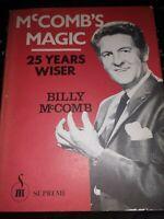 Billy McComb's Magic 25 Years Wiser (Limited) - Book Supreme Magic HC DJ
