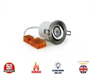 DAXLITE 10W LED TILT FIRE RATED DOWNLIGHT 4000K COOL WHITE RECESSED CEILING
