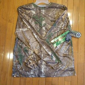 Men's Remington Realtree Camo Wicking Shirt Hunting Anti-Microbial Scent Control