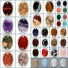Wholesale 30mm Oval cabochon CAB flatback semi-precious gemstone Save $ in bulk