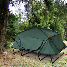Folding 2 Person Elevated Camping Tent Cot Waterproof Hiking Outdoor w Carry Bag