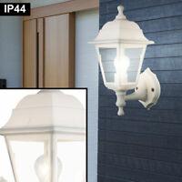 Landhaus Design Laterne Wand Beleuchtung Terrassen Außen Leuchte Alu Lampe weiß