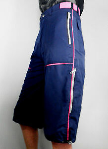 Navy Blue Shorts Hot Pink Piping  W 28  Size S  Active Festival Rave