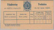 Hongrie-HISTOIRE POSTALE: carte de réception télégramme Michel # ta 2i bloc de 8