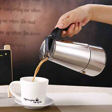 Uk Portable Stainless Steel Moka Coffee Pot Maker Percolator Stovetop 2cup 100ml