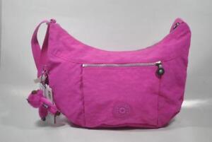 New With Tag Kipling JAZMYN Shoulder CrossBody Hobo Bag HB6485 696 - Breezy Pink