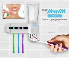 Pure Clean Sanitizing Toothbrush Holder UV Sterilizer and Toothpaste Dispenser