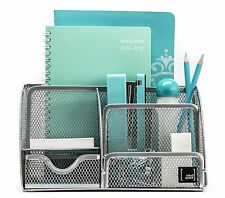 Mindspace Office Desk Mesh Organizer with 6 Compartments + Drawer