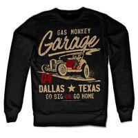 Gas Monkey Garage Go Big or Go Home Hot Rod Fast N Loud Männer Men Sweatshirt