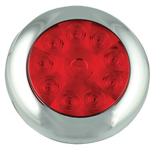 LED STOP&TAIL LIGHT CHROME SURROUND TRUCK/TRAILER 5543RM