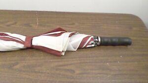 "Vintage 38"" Maroon & White Umbrella"