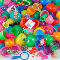 24 Filled Easter Eggs Plastic Bright Egg Assortment 2 1/3 In Assorted Colors Fun