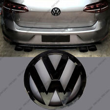 VOLKSWAGEN GOLF VW MK7 VII POSTERIORE NERO LUCIDO Badge Logo Emblema Boot GRILL 110mm
