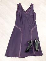 Chesca Purple Plum Silk Sleeveless Dress Size 18 Occasion Party