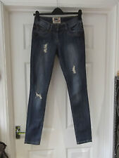 Size 6 Blue Skinny Jeans by New Look in Distressed/Ripped Look Relaxed Fit