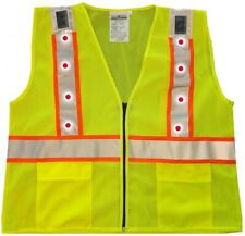 Flashing Solar LED Safety Vest in ANSI 2 & 3 lite safety vest