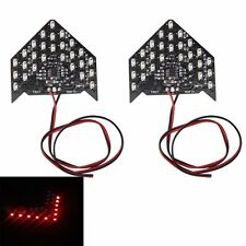 2Pcs 33 SMD LED Turn Signal Light Arrow Panels For Car Side Mirror Indicator New