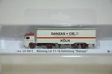 LEMKE Minis lc3611 BÜSSING LU 11-16 semirremolque DANZAS NUEVA PISTA N