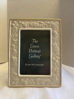 Lenox Ivory Off White Picture Frame Fruits Pattern Gold Edging Portrait Gallery