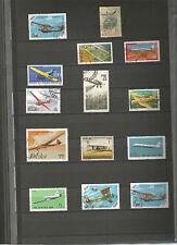 Briefmarken Lot Motive Flugzeuge Sellos Stamps Luftfahrt