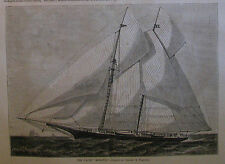THE YACHT MOHAWK DISASTER HARPER'S WEEKLY 1876