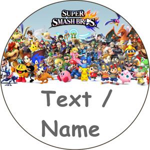 Super Smash Bros Geburtstag Tortenbild Eßbar Aufleger Party Deko Personalisiert