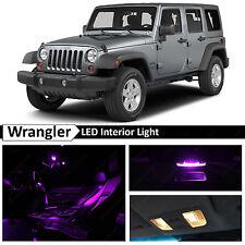 6x Purple Interior LED Lights Package Kit for 2007-2014 Jeep Wrangler