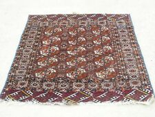 Antique Tekke Princess Bokhara Bokara Turkoman Turkman Tribal Rug Carpet 42x46 ""