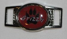 "Grizzly Bear Paw ""Grizz"" Oval shoelace charm (1) shoes/paracord"