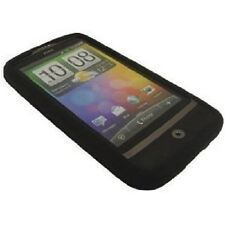 BLACK SOFT GEL CASE FOR HTC WILDFIRE