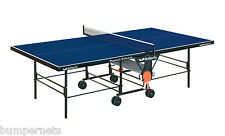 New Blue Butterfly Playback Rollaway Ping Pong Table Tennis Free Shipping