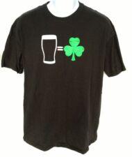 Men's Guinness Beer T-Shirt St. Patricks Day Green Clover Shamrock Glass Size L