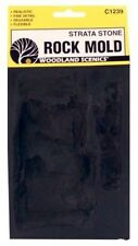 Woodland Scenics C1239 Rock Mold -Strata Stone, Flexible, Reusable - NIB