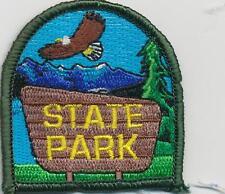 Girl Boy Cub STATE PARK TOUR VISIT Fun Patches Crests Badges SCOUT GUIDE Trip