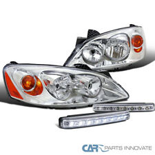 For Pontiac 05-10 G6 Clear Headlights Headlamps+8-LED Fog Lights Bumper Lamps