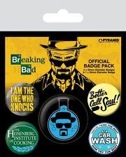 Button Badge 5er Pack BREAKING BAD - Better Call Saul! 1x38mm & 4x25mm 80490 NEU